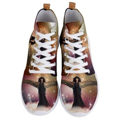 Awesome Dark Fairy In The Sky Men s Lightweight High Top Sneakers