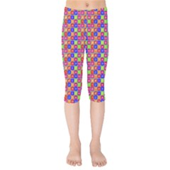 Numbers And Vowels Colorful Pattern Kids  Capri Leggings  by dflcprints