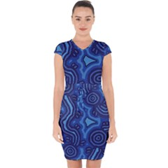 Aboriginal Art   Travel  Capsleeve Drawstring Dress