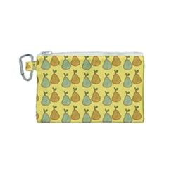 Pears Yellow Canvas Cosmetic Bag (small) by snowwhitegirl