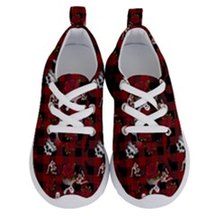 Gothic Woman Rose Bats Pattern Running Shoes by snowwhitegirl