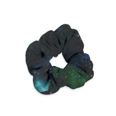 Galaxy Sky Blue Green Velvet Scrunchie by snowwhitegirl