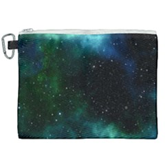 Galaxy Sky Blue Green Canvas Cosmetic Bag (xxl) by snowwhitegirl