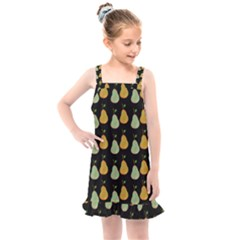 Pears Black Kids  Overall Dress