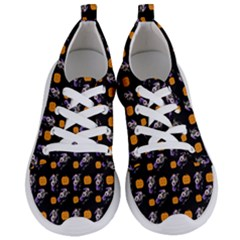 Halloween Skeleton Pumpkin Pattern Black Women s Lightweight Sports Shoes