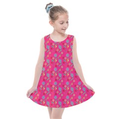 Vintage Floral Pink Kids  Summer Dress
