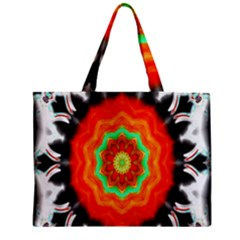 Abstract Kaleidoscope Colored Zipper Mini Tote Bag by Samandel