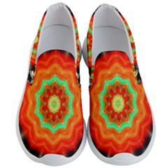 Abstract Kaleidoscope Colored Men s Lightweight Slip Ons