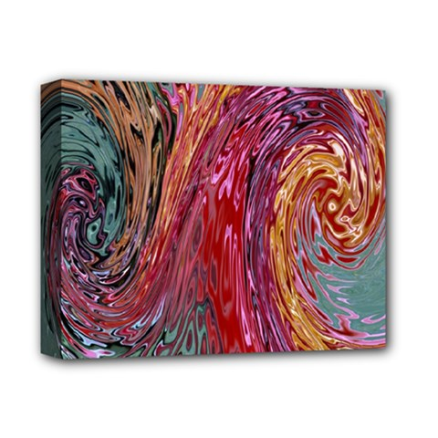 Color Rainbow Abstract Flow Merge Deluxe Canvas 14  X 11  (stretched)