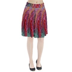Color Rainbow Abstract Flow Merge Pleated Skirt
