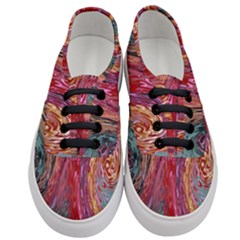 Color Rainbow Abstract Flow Merge Women s Classic Low Top Sneakers