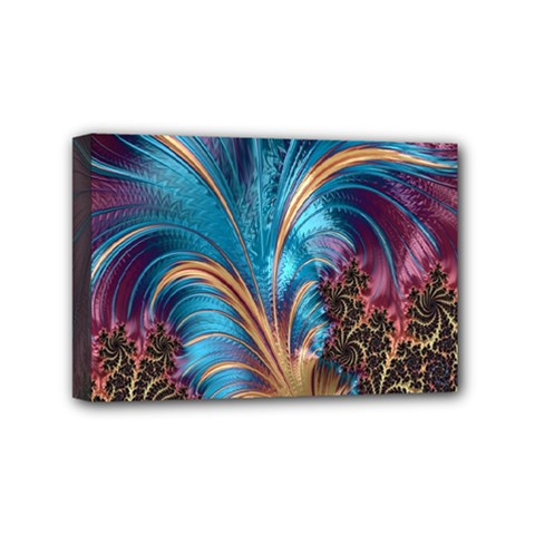 Fractal Art Artwork Psychedelic Mini Canvas 6  X 4  (stretched)