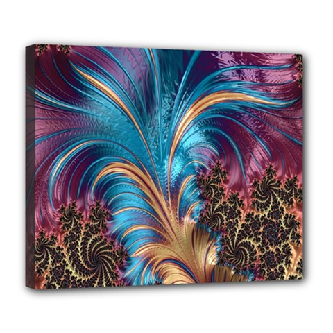 Fractal Art Artwork Psychedelic Deluxe Canvas 24  X 20  (stretched)