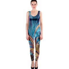 Fractal Art Artwork Psychedelic One Piece Catsuit