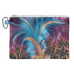 Fractal Art Artwork Psychedelic Canvas Cosmetic Bag (xl)