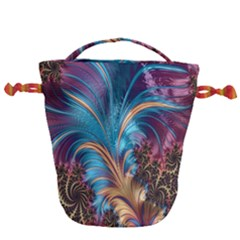 Fractal Art Artwork Psychedelic Drawstring Bucket Bag
