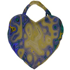 Color Explosion Colorful Background Giant Heart Shaped Tote