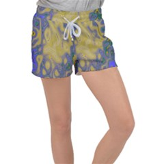 Color Explosion Colorful Background Women s Velour Lounge Shorts