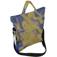 Color Explosion Colorful Background Fold Over Handle Tote Bag
