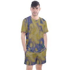 Color Explosion Colorful Background Men s Mesh Tee And Shorts Set
