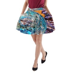 Multi Colored Glass Sphere Glass A Line Pocket Skirt
