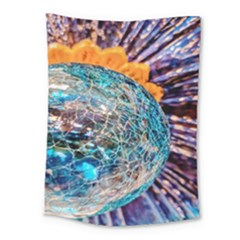 Multi Colored Glass Sphere Glass Medium Tapestry