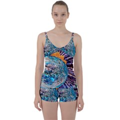 Multi Colored Glass Sphere Glass Tie Front Two Piece Tankini