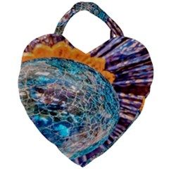 Multi Colored Glass Sphere Glass Giant Heart Shaped Tote by Samandel
