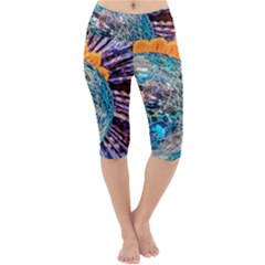 Multi Colored Glass Sphere Glass Lightweight Velour Cropped Yoga Leggings