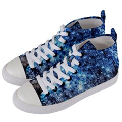 Abstract Fractal Magical Women s Mid Top Canvas Sneakers by Samandel
