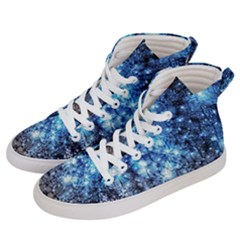 Abstract Fractal Magical Men s Hi Top Skate Sneakers by Samandel