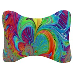 Fractal Art Psychedelic Fantasy Velour Seat Head Rest Cushion