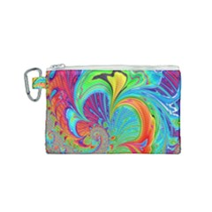 Fractal Art Psychedelic Fantasy Canvas Cosmetic Bag (small)