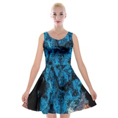 Abstract Fractal Magical Velvet Skater Dress