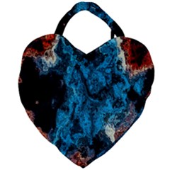 Abstract Fractal Magical Giant Heart Shaped Tote by Samandel