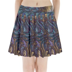 Fractal Art Artwork Globular Pleated Mini Skirt