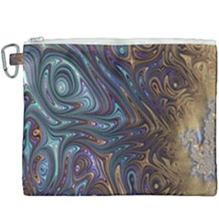 Fractal Art Artwork Globular Canvas Cosmetic Bag (xxxl) by Samandel