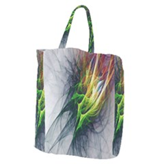 Fractal Art Paint Pattern Texture Giant Grocery Tote