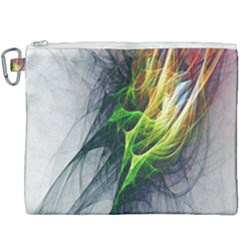 Fractal Art Paint Pattern Texture Canvas Cosmetic Bag (xxxl) by Samandel