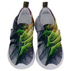 Fractal Art Paint Pattern Texture Velcro Strap Shoes by Samandel