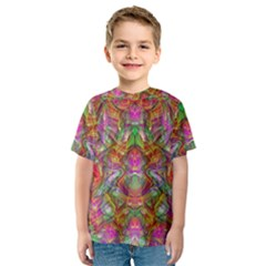 Background Psychedelic Colorful Kids  Sport Mesh Tee