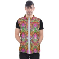 Background Psychedelic Colorful Men s Puffer Vest