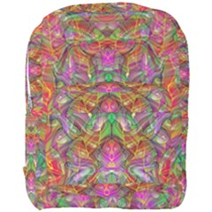 Background Psychedelic Colorful Full Print Backpack