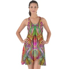 Background Psychedelic Colorful Show Some Back Chiffon Dress