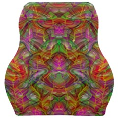Background Psychedelic Colorful Car Seat Velour Cushion