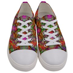 Background Psychedelic Colorful Women s Low Top Canvas Sneakers
