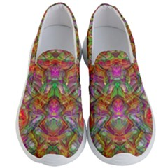 Background Psychedelic Colorful Men s Lightweight Slip Ons