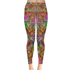 Background Psychedelic Colorful Inside Out Leggings