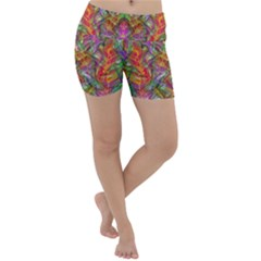 Background Psychedelic Colorful Lightweight Velour Yoga Shorts
