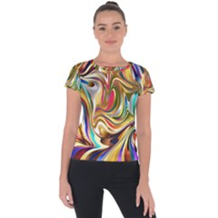 Wallpaper Psychedelic Background Short Sleeve Sports Top